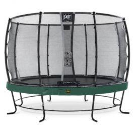 EXIT trampolína Elegant Premium ø366cm s bezpečnostní sítí Deluxe - zelená
