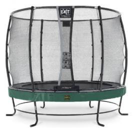 EXIT trampolína Elegant Premium ø253cm s bezpečnostní sítí Deluxe - zelená