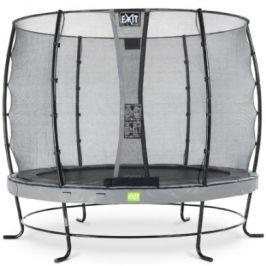 EXIT trampolína Elegantní ø253cm s bezpečnostní bezpečnostní sítí - šedá