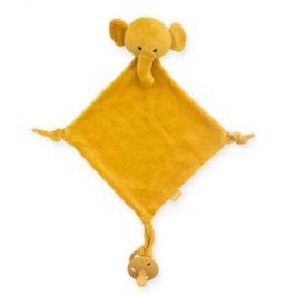 Jollein Cuddle hadřík slonová hořčice