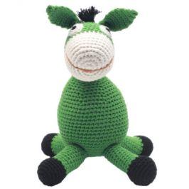 Nature Zoo of Denmark háčkované plyšová hračka osel, zelená