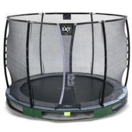 EXIT V zemi - Trampoline Elegant Premium ø305cm s bezpečnostní sítí Deluxe - zelená