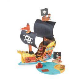 Janod Story Building Set Pirátská loď