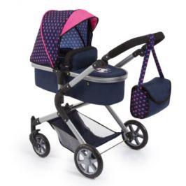 Bayer Design kočárek pro panenky City Neo modrý / růžový s jednorožcem