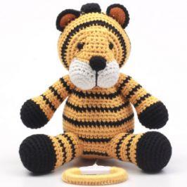 natureZoo of Denmark háčkovaná hrací skříňka Tygr, žlutá