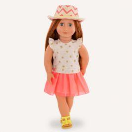 Our Generation panenka Clementine s hvězdnými šaty a kloboukem 46 cm