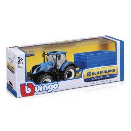Bburago Bburago Farm Tractor New Holland W8 s vlečkou 1:32