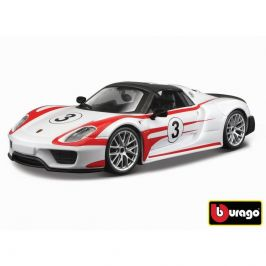 Bburago Bburago 1:24 Race Porsche 918 Weissach bílá 18-28009