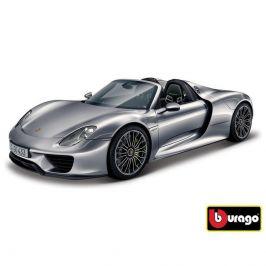 Bburago Bburago 1:24 Porsche 918 Spyder Metallic šedá 18-21076