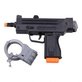Wiky Wiky Pistole - Policejní samopal s pouty set 24 cm