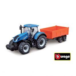 Bburago Bburago Farm Tractor s vlečkou 10 cm, různé druhy