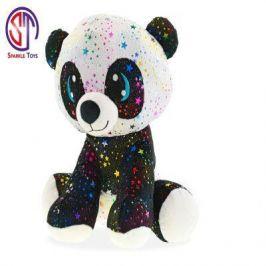 Mikro Trading Panda Star Sparkle plyšová 24cm sedící