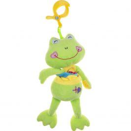 Plyšová hračka s hracím strojkem Akuku žabka