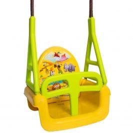 Dětská houpačka 3v1 safari Swing yellow