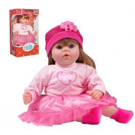 Česky mluvící a zpívající dětská panenka PlayTo Tina 46 cm
