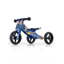 Dětské multifunkční odrážedlo kolo 2v1 Milly Mally JAKE blue