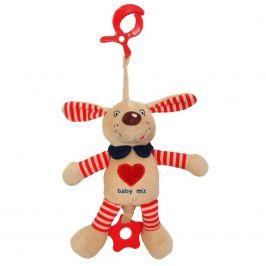 Plyšová hračka s vibrací Baby Mix pejsek červený