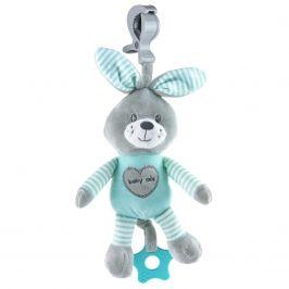 Edukační hrající plyšová hračka s klipem Baby Mix králík mátový