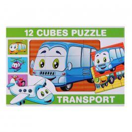 Skládací obrázkové kostky 12 ks transport