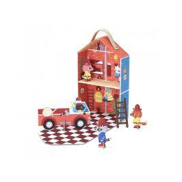 Krooom Cestovní set v kufříku - hasičská stanice