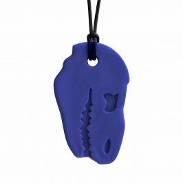ARK Therapeutic DINO BITE žvýkací přívěšek Soft Tmavě modrá