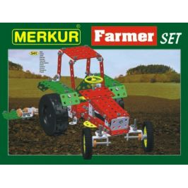 Merkur Toys Stavebnice MERKUR Farmer Set 20 modelů 341ks v krabici 36x27x5,5cm
