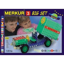 Merkur Toys Stavebnice MERKUR 3 30 modelů 307ks v krabici 36x26,5x5,5cm