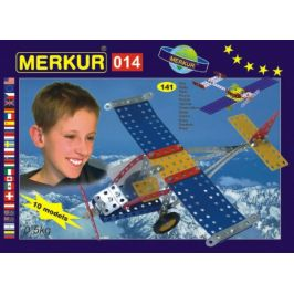 Merkur Toys Stavebnice MERKUR 014 Letadlo 10 modelů 141ks v krabici 26x18x5cm