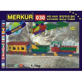 Merkur Toys Stavebnice MERKUR 030 Cross expres 10 modelů 310ks v krabici 36x27x3cm