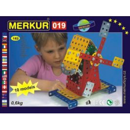Merkur Toys Stavebnice MERKUR 019 Mlýn 10 modelů 182ks v krabici 26x18x5cm