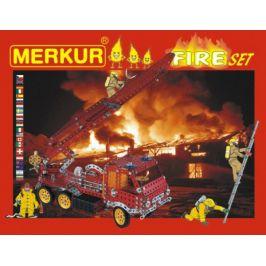 Merkur Toys Stavebnice MERKUR FIRE Set 20 modelů 708ks 2 vrstvy v krabici 36x27x5,5cm