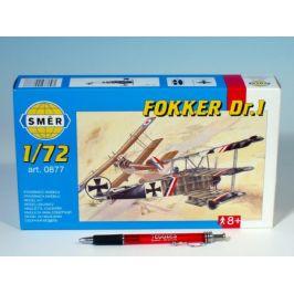 Směr Model Fokker DR.1 1:72 8,01x9,98cm v krabici 25x14,5x4,5cm