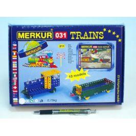 Merkur Toys Stavebnice Merkur 031 Železniční modely 10 modelů 211ks v krabici 26x18x5cm
