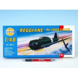 Směr Model Reggiane RE 2000 Falco 1:48 16,1x22cm v krabici 31x13,5x3,5cm