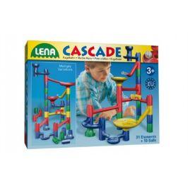 Lena Kuličková dráha 31ks 10 kuliček plast v krabici 40x30x8cm