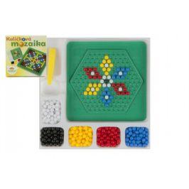 Teddies Mozaika kuličková s pinzetou malá 250 ks plast 12x12cm v krabičce