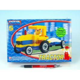 Chemoplast Stavebnice Cheva 5 Traktor s vlekem 84ks v krabici