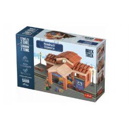 Trefl Stavějte z cihel Nádraží stavebnice Brick Trick v krabici 40x27x9cm