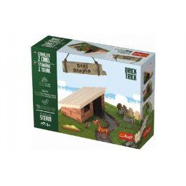 Trefl Stavějte z cihel Stáj stavebnice Brick Trick v krabici 28x21x7cm