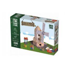 Trefl Stavějte z cihel Větrný mlýn stavebnice Brick Trick v krabici 36x25x7cm