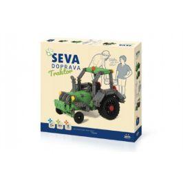 Stavebnice SEVA DOPRAVA Trakor plast 384 dílků v krabici 35x33x5cm 5+