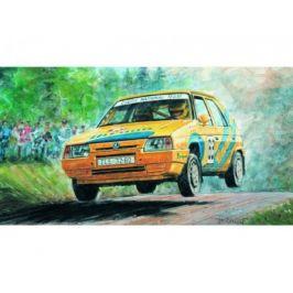 Směr Model Kliklak Škoda Favorit Rallye 96 13,5x6,7cm v krabici 25x14,5x4,5cm