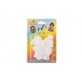 Lowlands Podložka na zažehlovací korálky Hama - kytička,koník, princezna plast 3ks na kartě 12x18x3cm