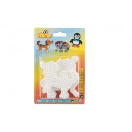 Lowlands Podložka na zažehlovací korálky Hama slon,tučňák,pejsek plast 3ks na kartě 12x18x3cm