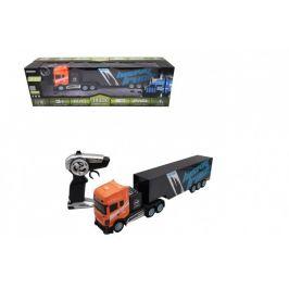 Teddies Auto/Kamion RC s návěsem plast 45cm 2,4 GHz na baterie v krabici 56,5x18x13,5cm