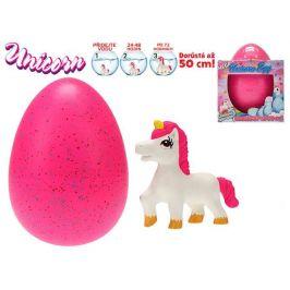 Mikro Trading Jednorožec líhnoucí a rostoucí v MEGA vajíčku 20cm Barva: Růžová