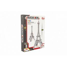 Teddies Stavebnice kovová Eiffelova věž 225 dílků v krabici 24x31x5cm