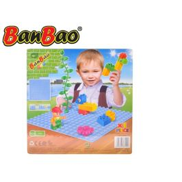 Mikro Trading BanBao stavebnice Young Ones základní deska 25,5x25,5cm modrá