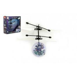 Teddies Vrtulníková koule létající plast 13x11cm s USB kabelem na nabíjení v krabičce
