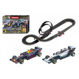 Conquest Autodráha Carrera GO!!! 62524 Racing Heroes 5,3m + 2 formule v krabici 58x40x10cm